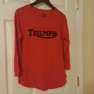 Red Triumph Tee